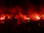 Le feu sur le port du Bec