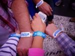 Mise en place des bracelets