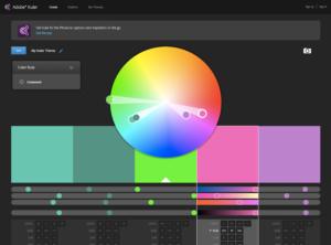 Adobe kuler aide aux choix de palettes de couleur